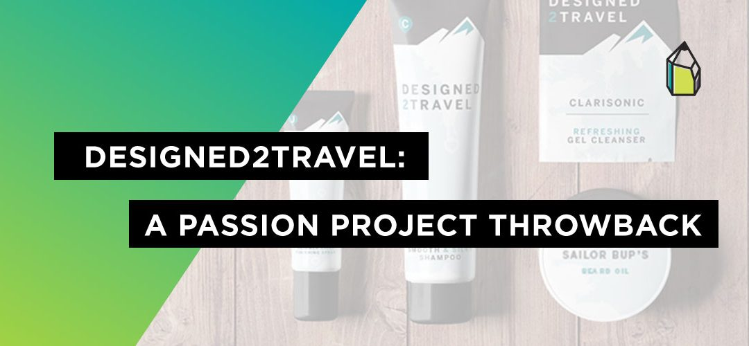 Designed2Travel packaging design throwback
