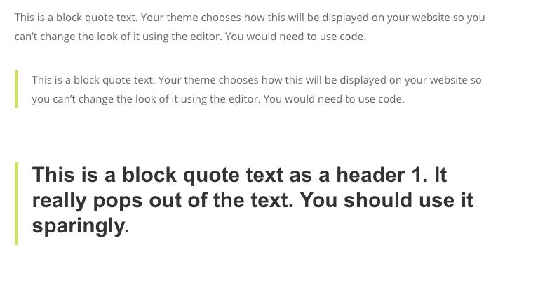 block quote 2