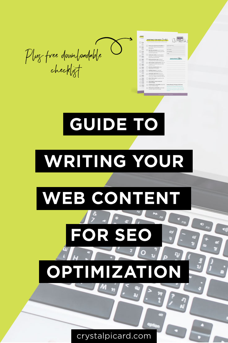 How to write your blog & website copy for SEO. Top tips for creating content that ranks with google on your WordPress/Squarespace website by Writing for SEO